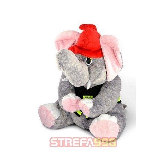 Maskotka słoń strażak duży
