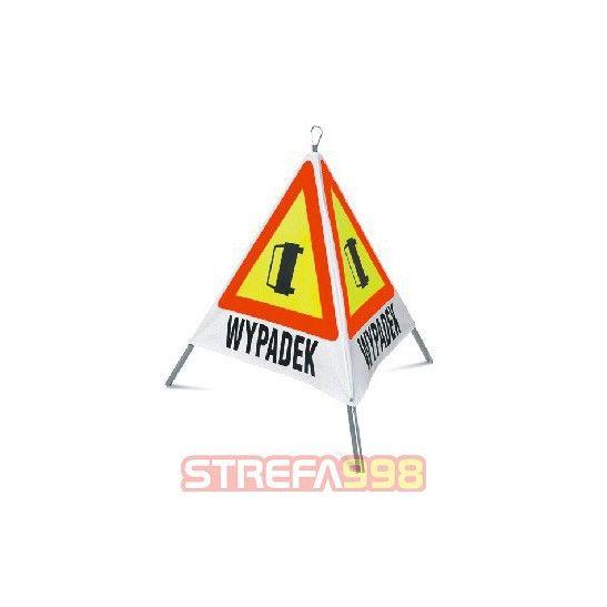 """Trójkątny znak składany """"WYPADEK"""" -  Znaki drogowe"""