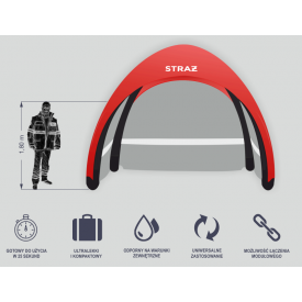 Mobilny namiot pneumatyczny RAPID S1 Pneumatik