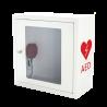 Szafka na AED ASB1010 biała z alarmem dźwiękowym