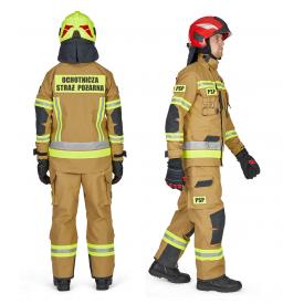 Ubranie Rosenbauer Fire Max SF 3-częściowe zgodne z OPZ - Ubranie specjalne zgodne z OPZ KG PSP z 2019r.