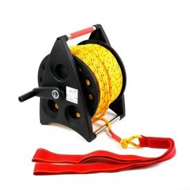 Kołowrót ratowniczy - lina średnica 6 mm 80m - Kołowroty i liny asekuracyjne