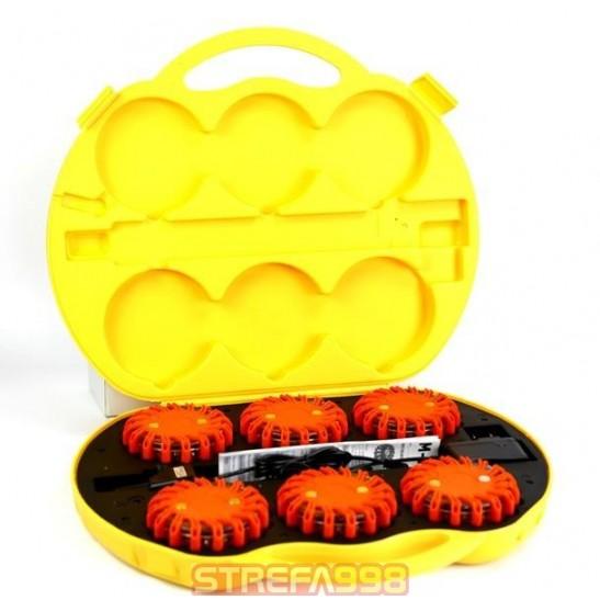 Flary ostrzegawcze pomarańczowe - zestaw -  Sprzęt pomocniczy